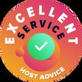 """Мы уделяем время, чтобы лично и анонимно проверить службы техподдержки каждой компании. """"Badge of excellence"""" дают компаниям, которые выполнили высокие стандарты HostAdvice по обслуживанию клиентов, если они доказали, что их сервис быстрый, еффективный, адекватный и самое главное полезный."""