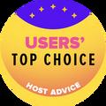 Награждаются компании, которые находятся в списке топ 10 хостингов с самым большим рейтингом от пользователей.